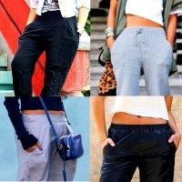 как носить брюки джоггеры на резинке
