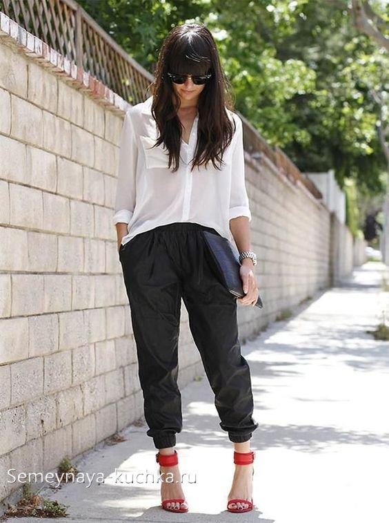 штаны джоггеры с рубашкой