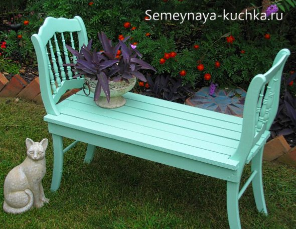 скамейка для дачи без спинки