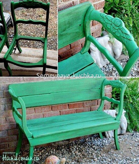 садовая скамейка простой способ сделать самим
