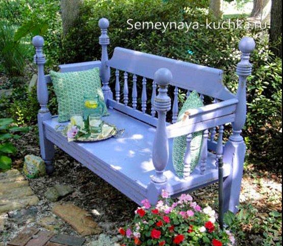 скамейка садовая от старой кровати