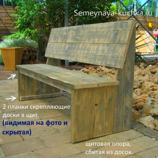 скамейка для дачи простая своими руками