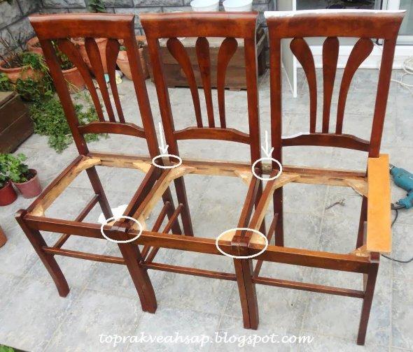 мастер-класс скамейка из стульев своими руками
