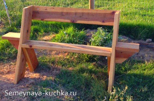 скамейка для дачи схема сборки