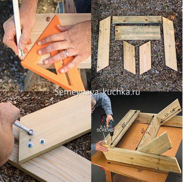 скамейка для дачи как сделать своими руками