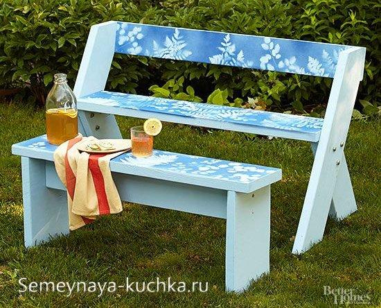садовая скамейка простой способ