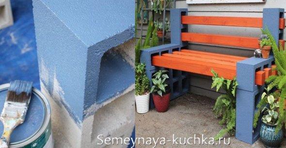 газосиликатные блоки для строительства скамейки на дачу