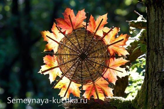 поделка из листьев на тему осень