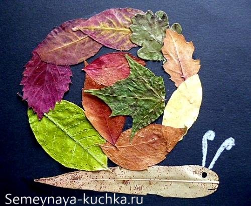 природный материал в аппликациях из листьев
