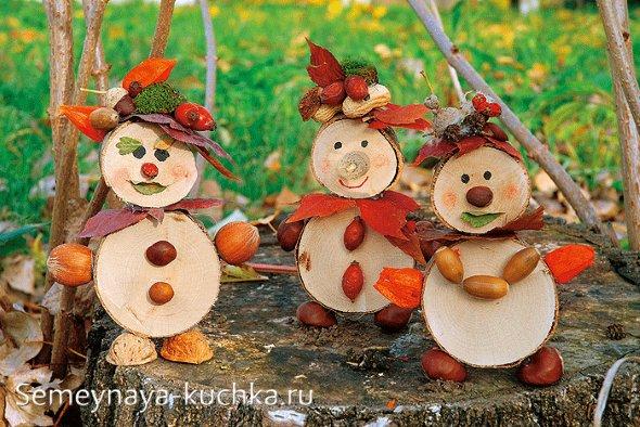 поделки из дерева на тему осень