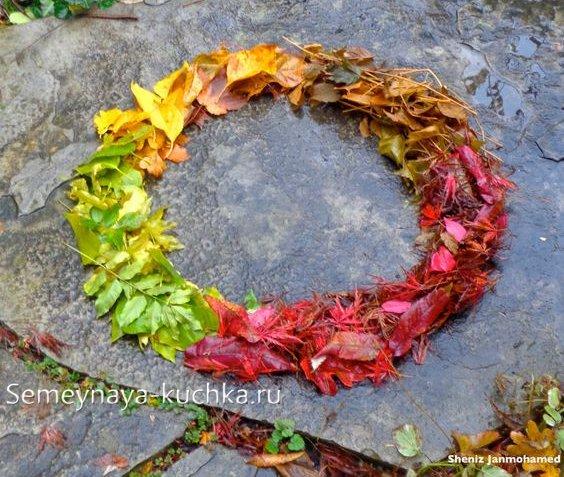 поделка из природного материала на тему осень