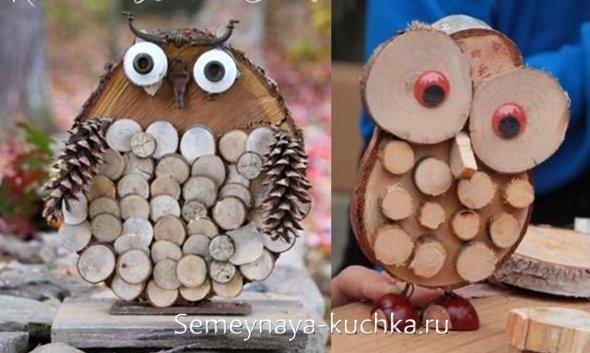 поделки совы из дерева своими руками