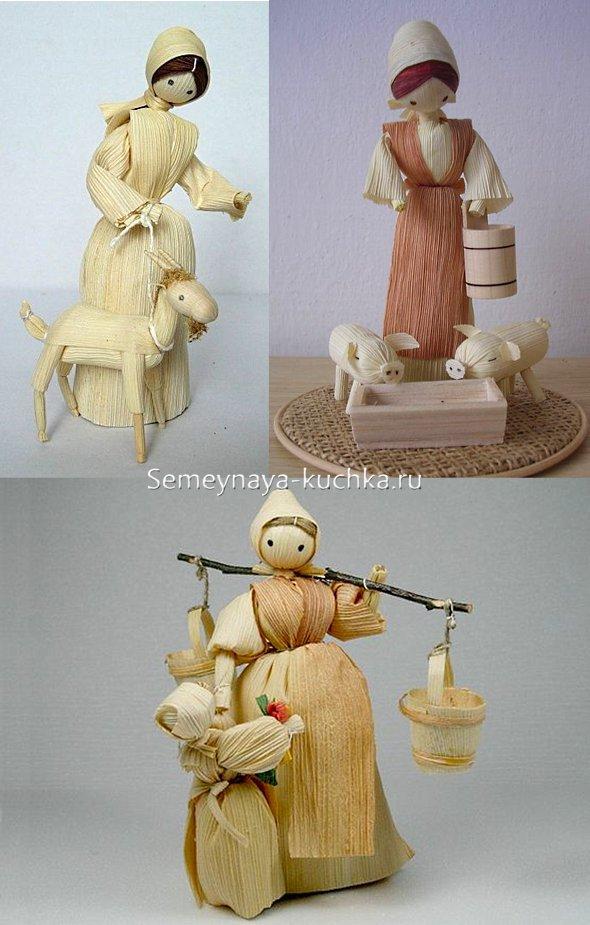 поделки куклы из листьев кукурузы