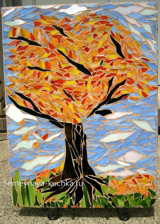 поделка дерево осенью