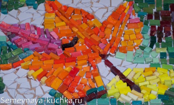 поделки мозаика из соленого теста