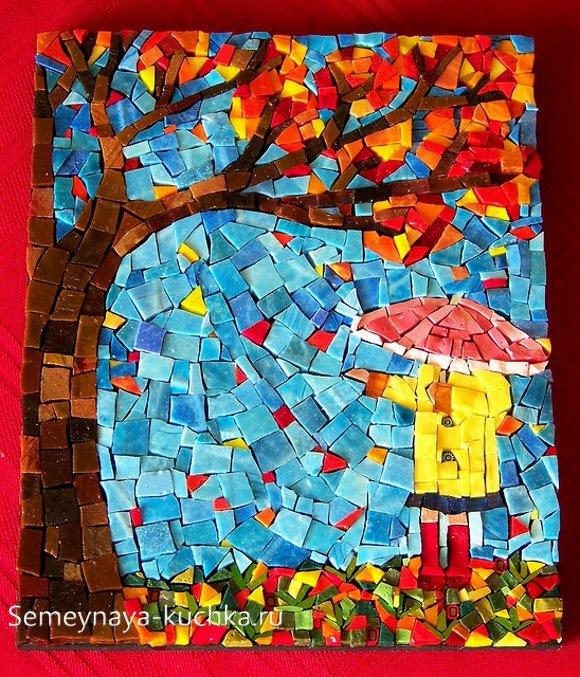 мозаика из теста осень