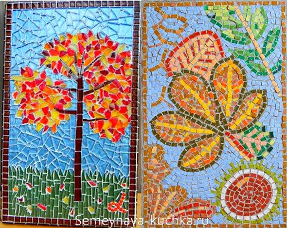 осеняя поделка мозаика