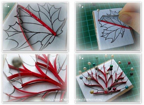 мастер-класс как сделать кленовый лист