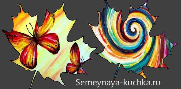 поделка из кленовых листьев