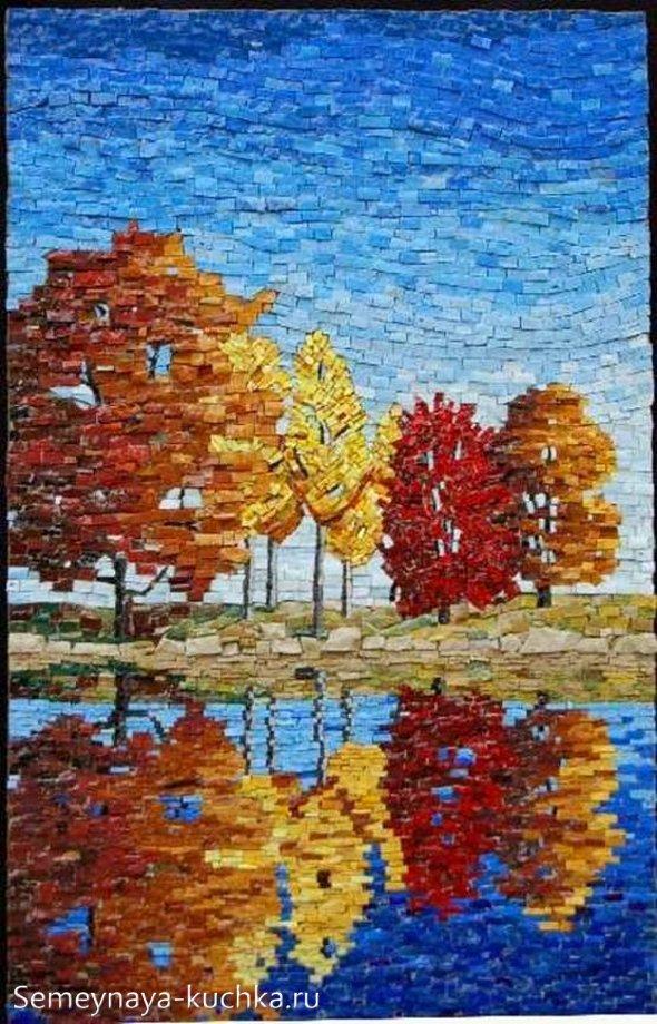осенняя мозаика поделка для взрослых