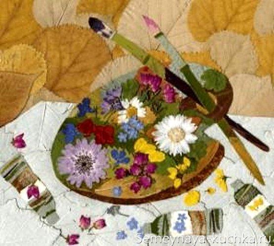 Картины из сухих цветов своими руками с фото 120