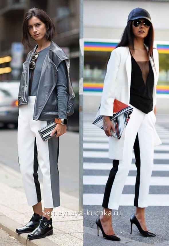 стиль спорт шик и брюки с лампасами