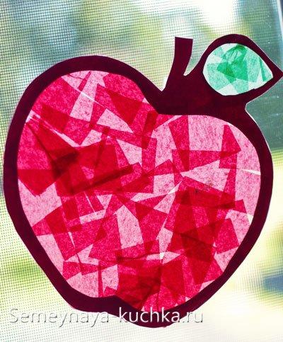 детская поделка яблоко