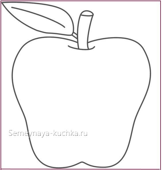 трафарет шаблон яблоко