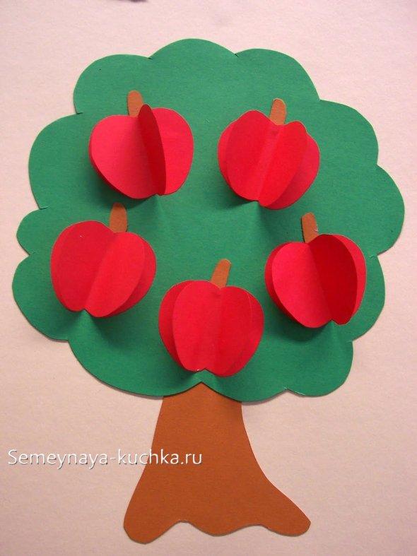 поделка яблоня с яблоками своими руками