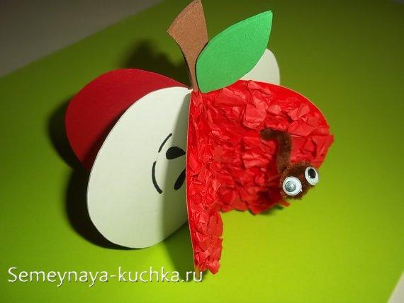 поделка яблоко детская