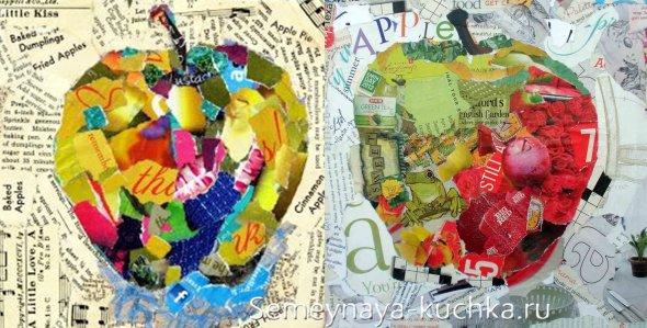 поделка яблоко мозаика для детей