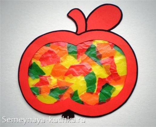 поделка яблоко для детей