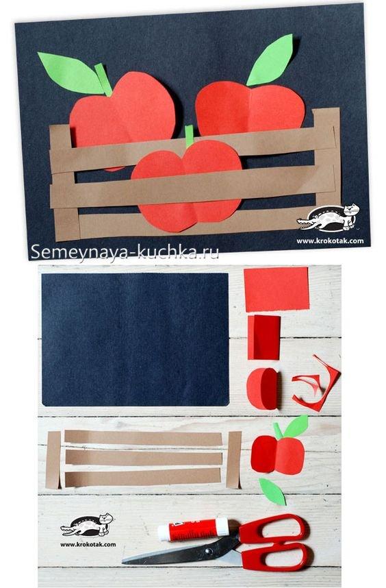 поделка ящик с яблоками своими руками
