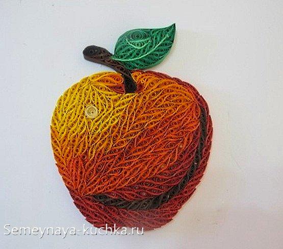 поделка яблоко из бумаги своими руками