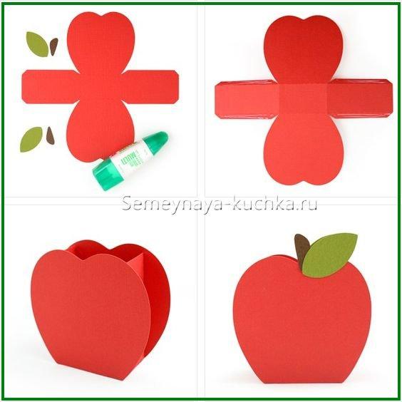 поделка для детей яблоко