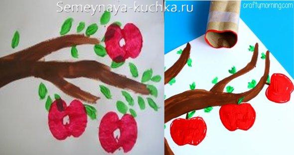 поделка яблоко своими руками