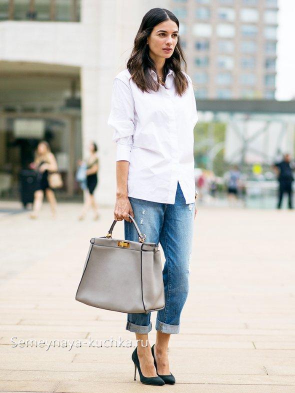 джинсы бойфренды модные фото