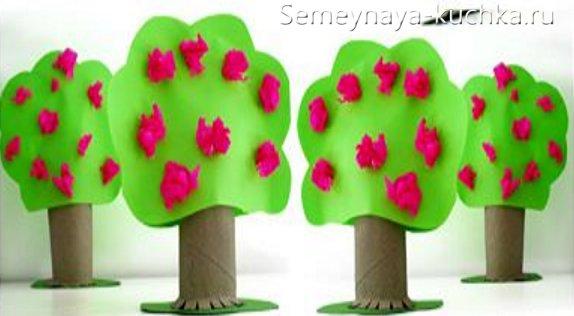 дерево яблоня детская поделка