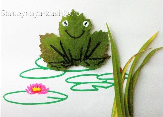 детская поделка из листьев