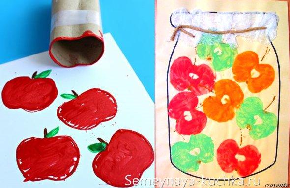 детская поделка с яблоками