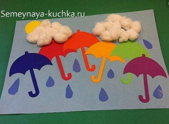 поделка осенняя с зонтиками