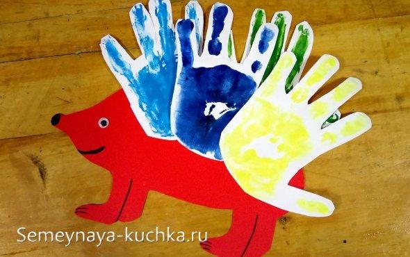 ежик детям своими руками