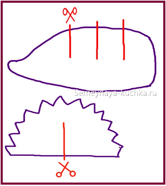 схема поделки ежик