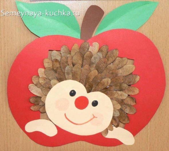 поделка ежик из семян детям