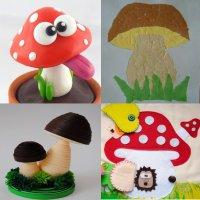поделка гриб для детей