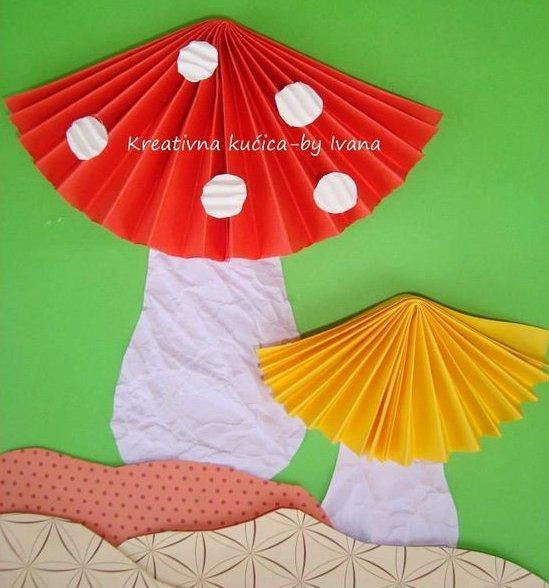 поделка гриб в детском саду