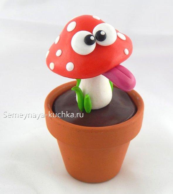 пластилиновый гриб