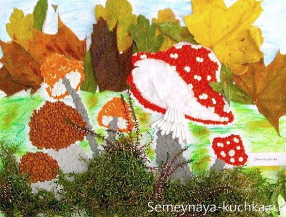 поделка гриб из природного материала
