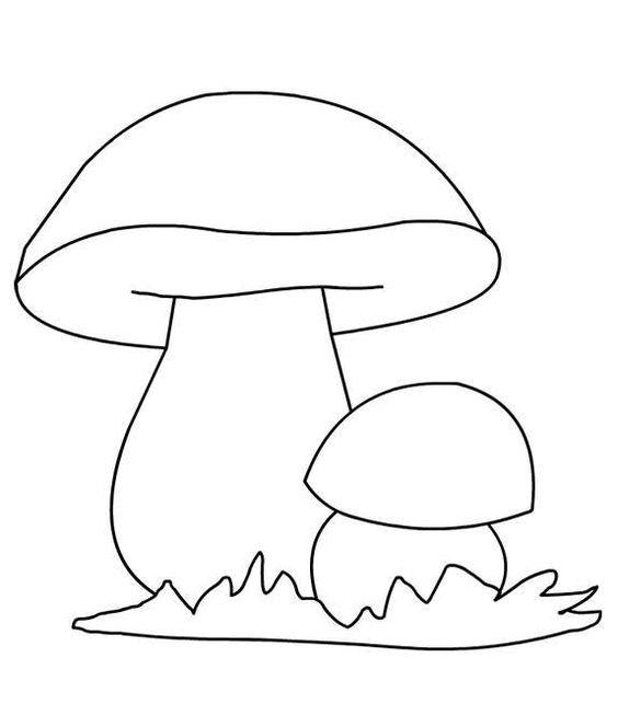 шаблон гриб для детского сада