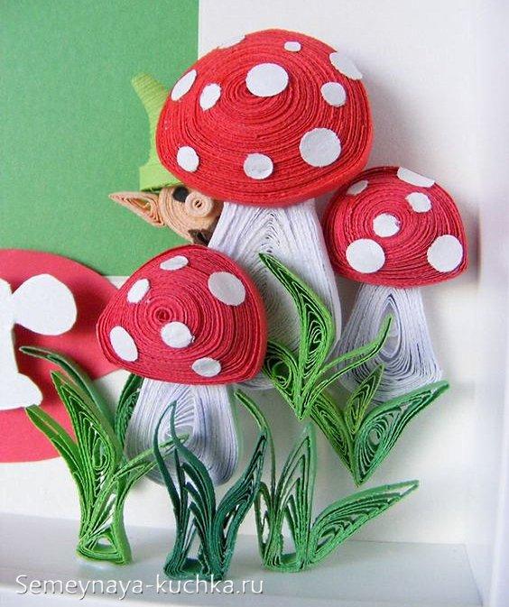 поделка грибы из бумаги своими руками